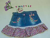 Модная джинсовая юбка  для девочки рост 104-116 см, фото 1