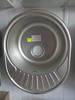 Мойка врезная овальная размер : 570*450 т.0.8 мм.