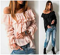 Блуза на плечах с рюшами 16272, фото 1