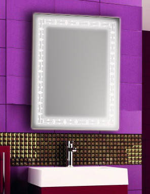 Зеркало с LED подсветкой настенное d67 600х800 мм Лед, фото 2