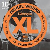 Струны для электрогитары D'Addario EXL110 Electric Guitar Strings Regular Light 10-46