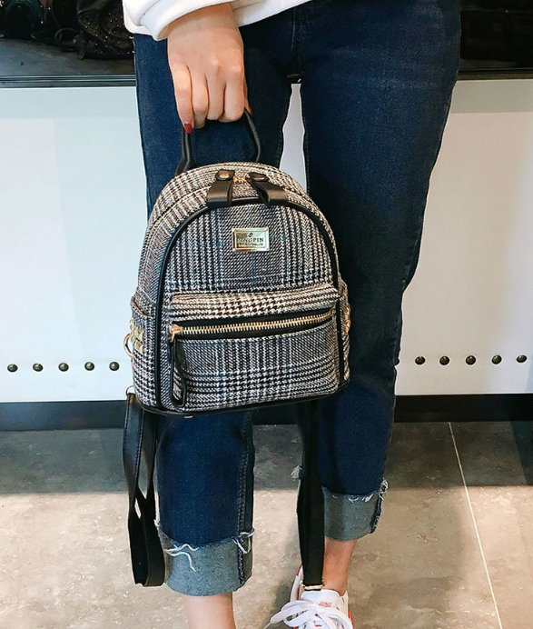 мини рюкзачок чёрный