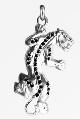 Кулон серебряный Пантера