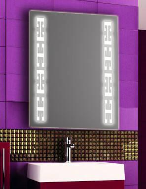 Зеркало с LED подсветкой настенное d70 600х800 мм Лед, фото 2