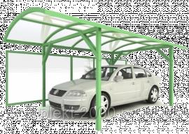 навес для авто из поликарбоната для одной машаны
