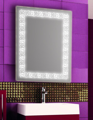 Зеркало с LED подсветкой настенное d85 600х800 мм Лед