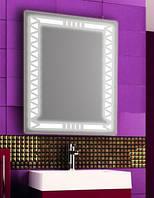 Зеркало с LED подсветкой настенное d86 600х800 мм Лед