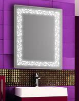 Зеркало с LED подсветкой настенное d89 600х800 мм Лед