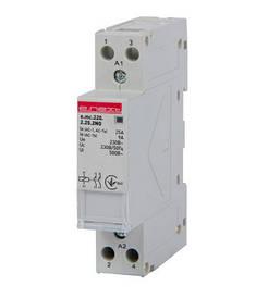 Модульний контактор e.mc.220.2.25.2 NO, 2р, 25А, 2NO, 220 В