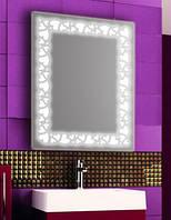 Зеркало с LED подсветкой настенное d92 600х800 мм Лед