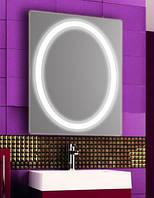 Зеркало с LED подсветкой настенное d93 600х800 мм Лед
