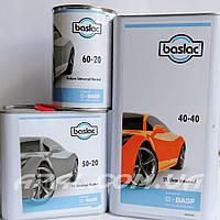 Baslac Комплект: 40-40 Лак прозорий універсальний HS/MS 2:1 (5 л), затверджувач 50-20 (2,5 л), розчинник 60-20, фото 1