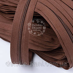 Блискавка рулонна коричневого кольору, Т3 (метражем)