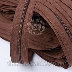 Молния рулонная коричневого цвета, Т3 (метражом)