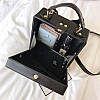 Черная каркасная сумочка с Девочкой, фото 6