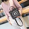 Черная каркасная сумочка с Девочкой, фото 9