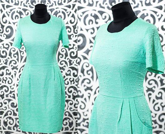 """Удобное женское платье """"коттон-жатка"""" с цветочным рисунком 48, 50, 52, 54 размер батал, фото 2"""