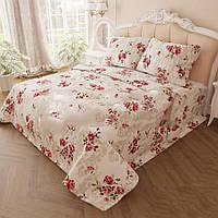 Двуспальное постельное белье Розы с узором из бязи оптом и в розницу 99ab7c418c4c7