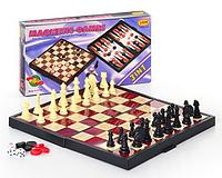 Игровой набор на магнитах 3в1 (шахматы шашки нарды) 9831 hn