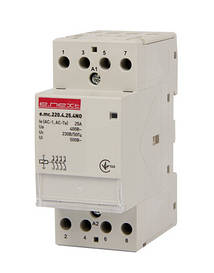 Модульний контактор e.mc.220.4.25.4 NO, 4р, 25А, 4NO, 220 В