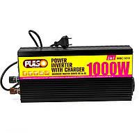Преобраз. напряжения /зарядн. уст-во PULSO IMBC-1010/ 12V-220V/ 1000W/ 10A/ мод.волна/ клеммы, фото 1