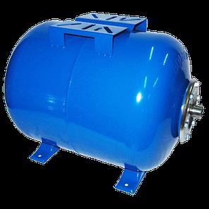 Гидроаккумулятор 100л. с манометром 10bar горизонтальный, фото 2