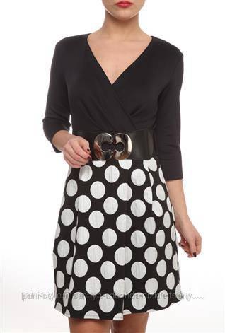 Сукня жіноча з пишною спідницею, плаття гарне спідниця в горохи, повсякденне, молодіжне, з декольте
