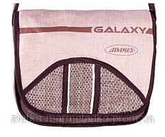 Коляска трансформер Adamex Galaxy Drifting (поворотные колёса) 991G коричневый лен-капучино (мешковина) -беж