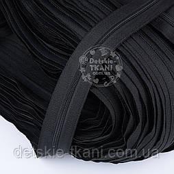 Блискавка рулонна чорного кольору, Т3 (метражем)