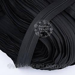 Молния рулонная чёрного цвета, Т3 (метражом)