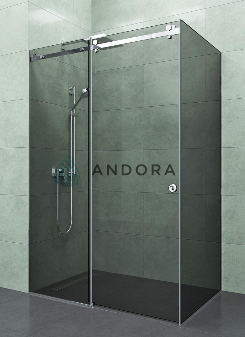 Душевая кабина Andora Dream 1300x900x200 стекло grafite L / R
