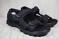 Спортивные мужские сандалии Restime натуральный нубук большие размеры 46,47