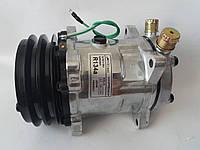 Компрессор кондиционера универсальный, аналог SANDEN, 5Н14, А2,  24V, АCTECmax, фото 1