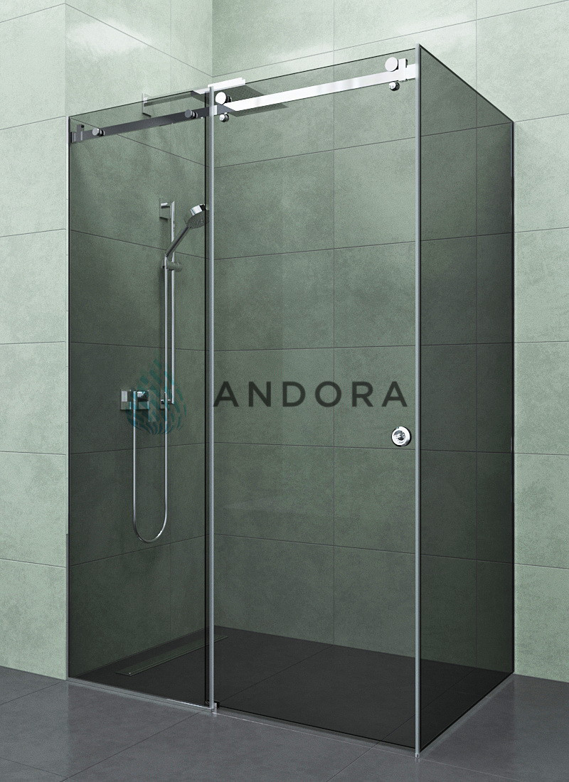 Душевая кабина Andora Dream 1300x800x200 стекло grafite