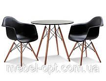 Стол обеденный Тауэр Вуд круглый черный диаметр 60 см Eames DSW Table Царапины на столешнице!, фото 3