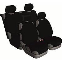Майки на сиденье автомобиля Beltex Cotton 4шт универсальные без подголовников черный (13210)