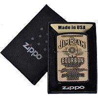 Зажигалка бензиновая zippo (копия) jim beam в подарочной упаковке 4736-2 (реплика) so