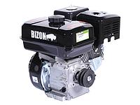 Двигатель бензиновый BIZON 170F (2х ручейный шкив, увеличенный бак, глушитель и фильтр.)