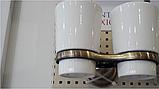 Стакан двойной настенный бронзовый 6-027, фото 2