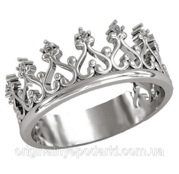 кольцо серебряное женское