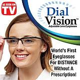 Регульовані окуляри Dial Vision Adjustable Lens Eyeglasses від -6D до + 3D, очки з регулюванням лінз, фото 7