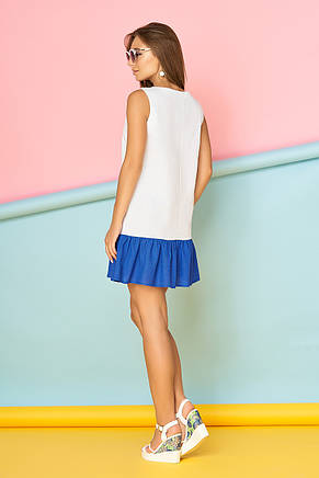 Молодежное кокетливое платье с рюшей (4 цвета), фото 2