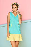 Молодежное кокетливое платье с рюшей (4 цвета), фото 1