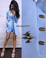 Женский стильный костюмчик двойка: пиджак-трансформер и комбез (3 цвета), фото 1