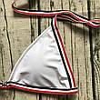 Купальник раздельный бикини мягкая чашка , плавки бразилиана белый-139-06, фото 2