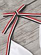 Купальник раздельный бикини мягкая чашка , плавки бразилиана белый-139-06, фото 3