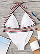 Купальник раздельный бикини мягкая чашка , плавки бразилиана белый-139-06, фото 4