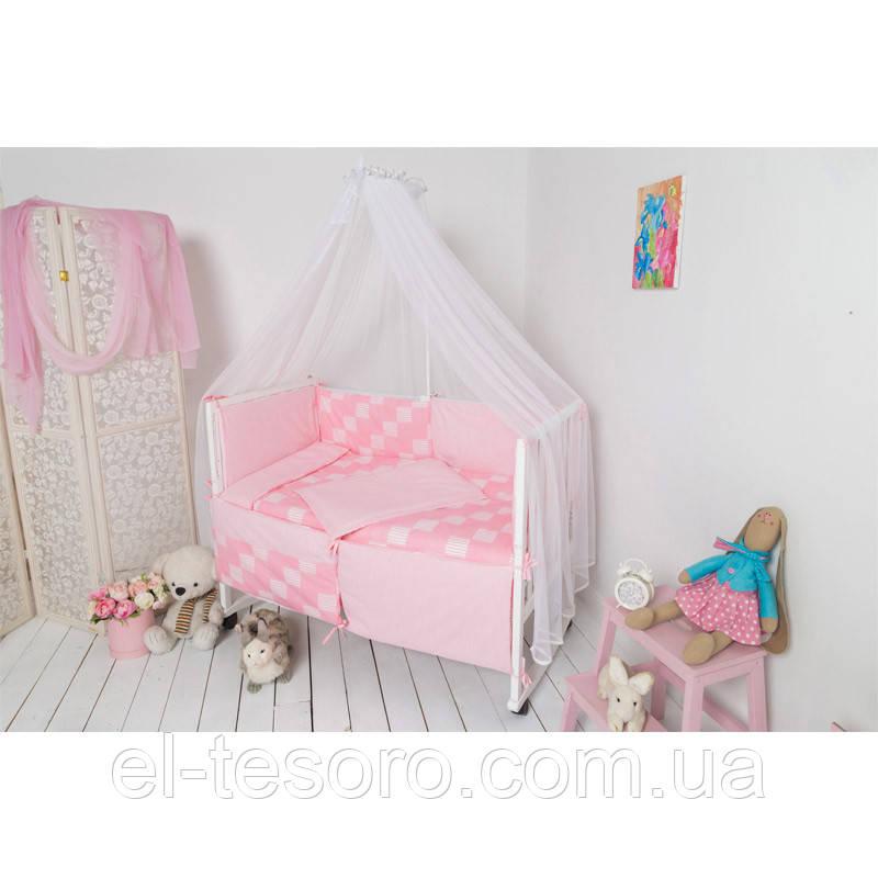 Спальний Комплект «Клітинка» (4 Предмета)