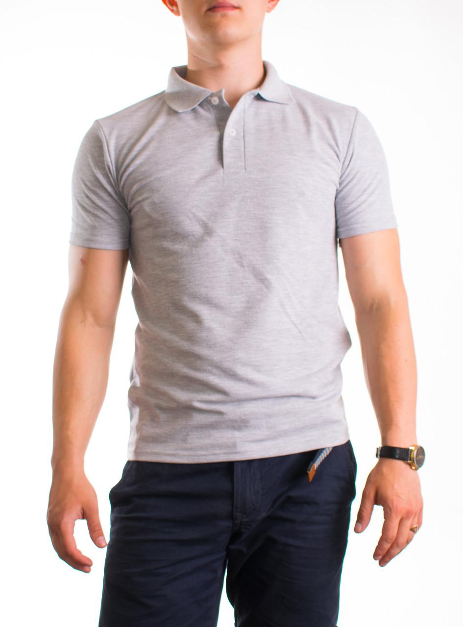 Bono Мужская футболка поло серая 400119