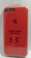 Силіконовий чохол Apple Silicone Case (MMWF2ZM / A) для Iphone 7 / 8 Plus (Red | Червоний)